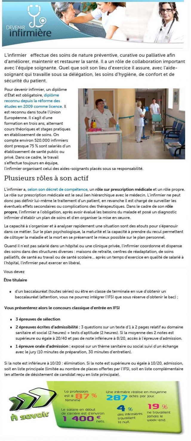 Les Formations Svt Post Bac Infirmier Ifsi Metz Lycee